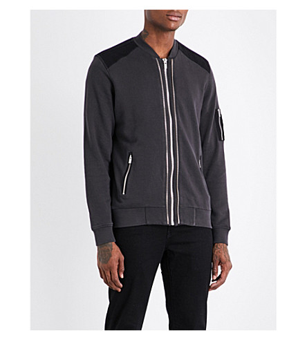 THE KOOPLES SPORT Contrasting panel cotton bomber jacket (Gry03
