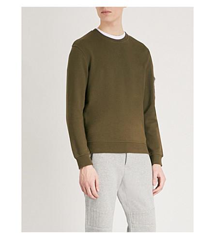 THE KOOPLES Zip-up pocket cotton-jersey sweatshirt (Kak01