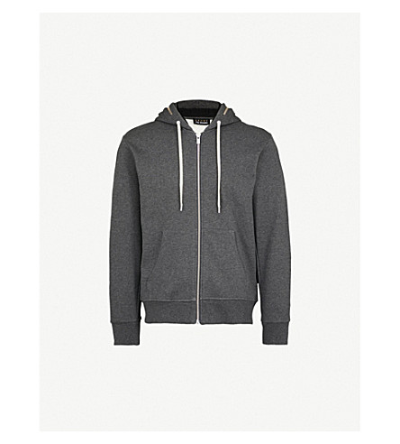 THE KOOPLES Zip-detail cotton-jersey hoody (Gry23