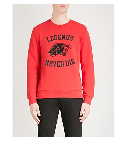 THE KOOPLES Panther-motif cotton-jersey sweatshirt (Red01