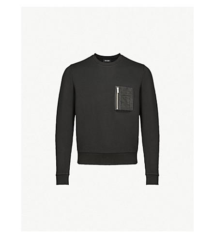 THE KOOPLES Pocket-detail jersey sweatshirt (Bla01