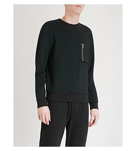 Cheap Sale Free Shipping Particular THE KOOPLES Pocket-detail jersey sweatshirt Bla01 nY32V