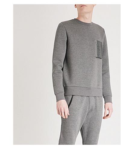THE KOOPLES Pocket-detail jersey sweatshirt (Gry01
