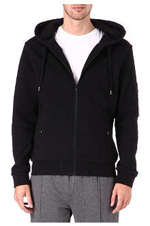 THE KOOPLES SPORT Hooded zippered sweatshirt with pocket