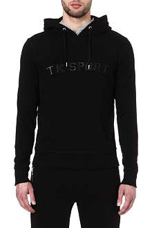 THE KOOPLES SPORT Leather appliqué hoody