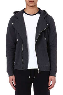 THE KOOPLES SPORT Biker hooded sweatshirt