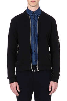 THE KOOPLES SPORT Cotton zip detail bomber jacket