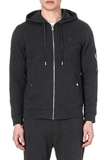 THE KOOPLES SPORT Zip-up cotton hoody