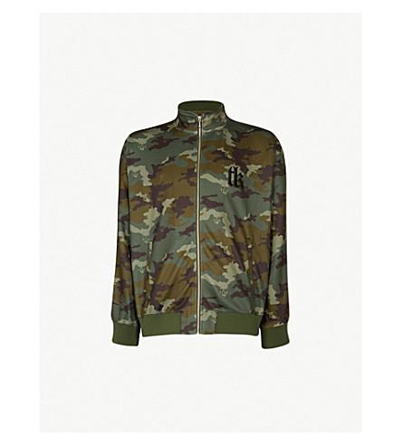THE KOOPLES Camouflage jersey zip-up (Kak01