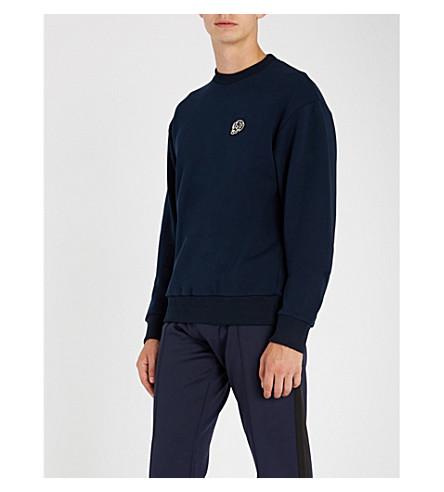 THE KOOPLES Skull-patch cotton-blend sweatshirt (Nav01