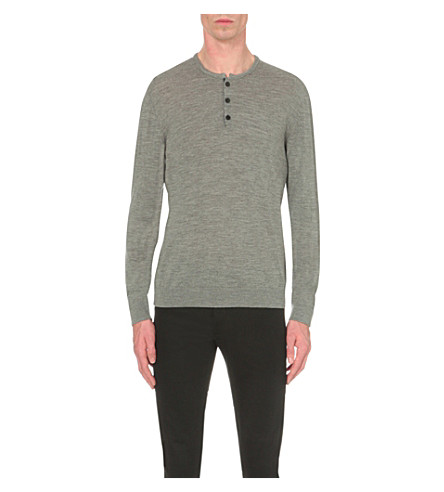THE KOOPLES Crewneck wool top (Brgndy+off+whte+blck