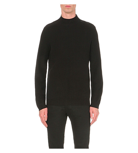 THE KOOPLES Ribbed knitted jumper (Black