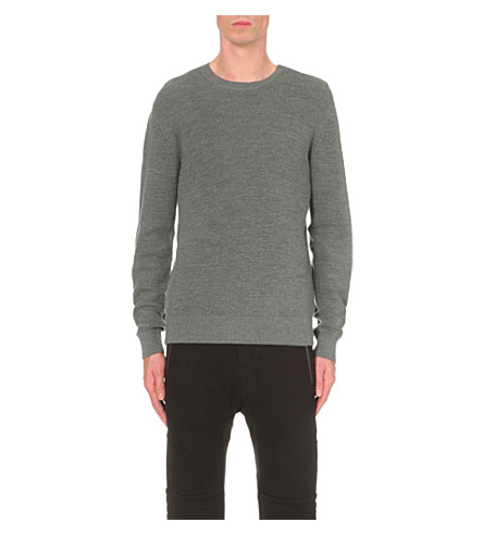 THE KOOPLES Crewneck wool jumper (Grey
