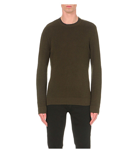 THE KOOPLES Crewneck knitted jumper (Kaky