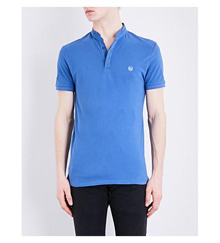 THE KOOPLES SPORT Crest-detail cotton-piqué polo shirt (Blud6