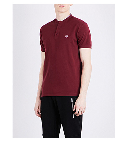 THE KOOPLES SPORT Stand-collar cotton polo shirt (Bur26
