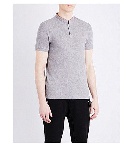 THE KOOPLES SPORT Stand-collar cotton polo shirt (Gryb4