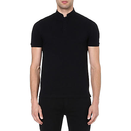 THE KOOPLES SPORT Stand-collar polo shirt (Black