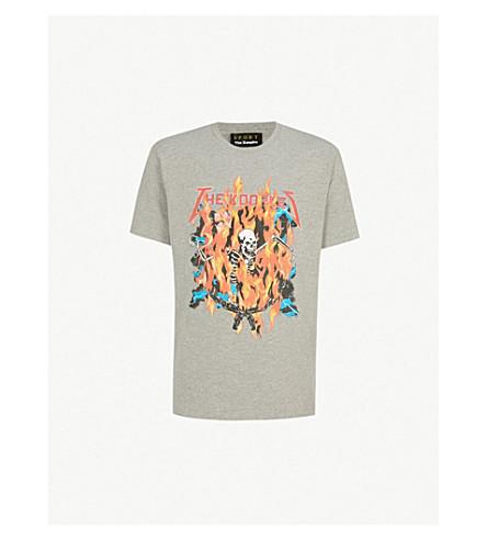 THE KOOPLES Logo-print cotton-jersey T-shirt (Gri30