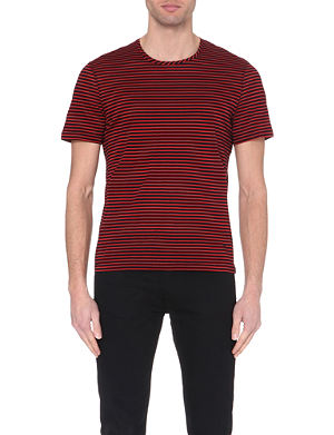 THE KOOPLES Striped crew neck cotton t-shirt