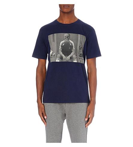 THE KOOPLES Skull-print cotton-jersey T-shirt (Blue