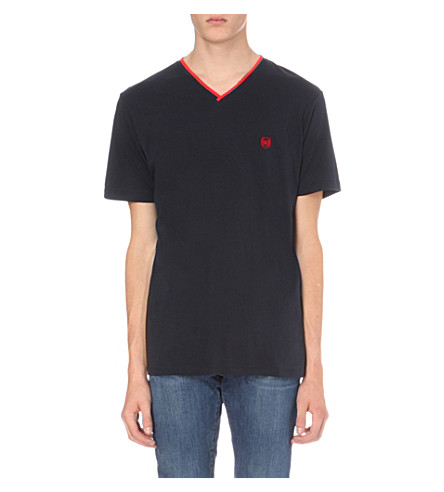 THE KOOPLES V-neck cotton-jersey T-shirt (Navy
