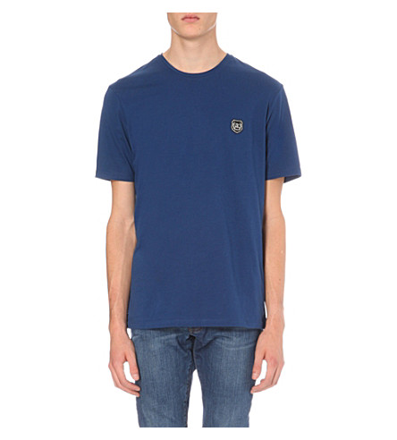 THE KOOPLES Crewneck cotton-jersey T-shirt (Blue