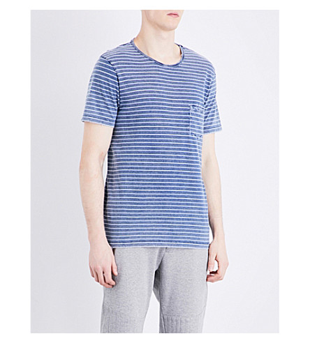 THE KOOPLES SPORT Blue and white striped cotton t-shirt (Blu21