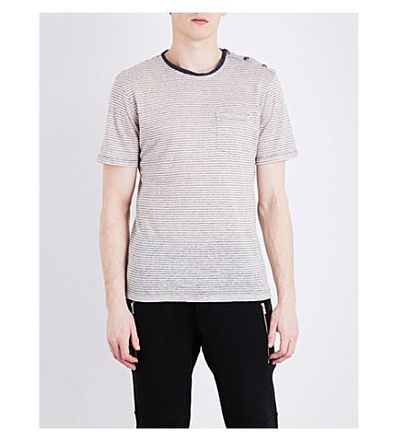 THE KOOPLES SPORT Striped linen T-shirt (Ecr24