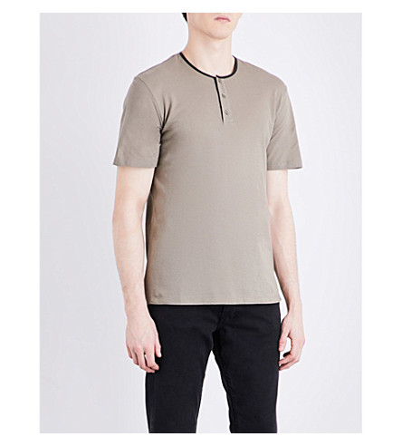 THE KOOPLES Henley cotton-piqué T-shirt (Bei01