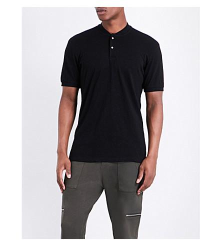 THE KOOPLES SPORT Buttoned cotton T-shirt (Bla01