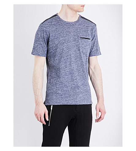 THE KOOPLES SPORT Marl cotton T-shirt (Blu77