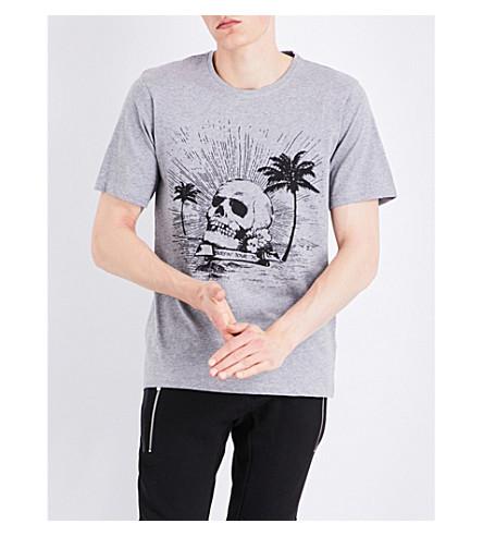 THE KOOPLES SPORT Skull-print cotton T-shirt (Gry05