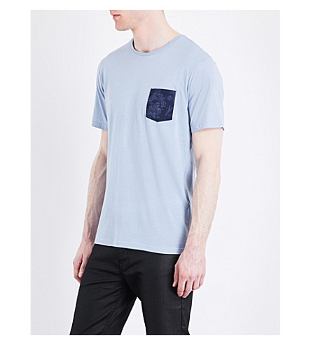 THE KOOPLES Patch pocket cotton T-shirt (Blu25