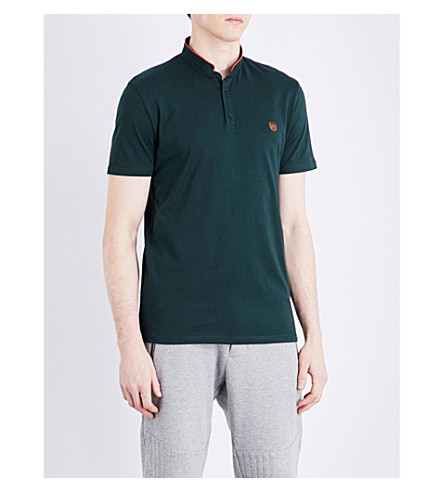 THE KOOPLES SPORT Stand-collar cotton polo shirt (Grn48
