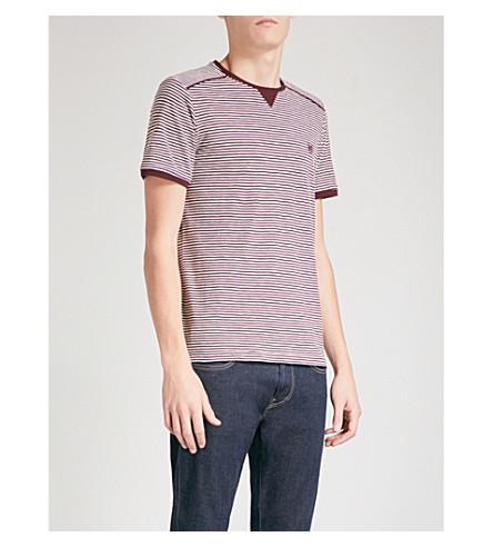 THE KOOPLES 条纹棉 t恤衫 (Bur01