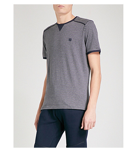 THE KOOPLES Striped cotton T-shirt (Nav82