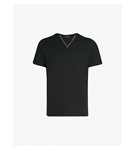 THE KOOPLES Necklace embellished cotton T-shirt (Bla01