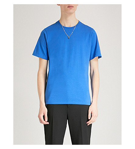 THE KOOPLES Necklace embellished cotton T-shirt (Bluv2