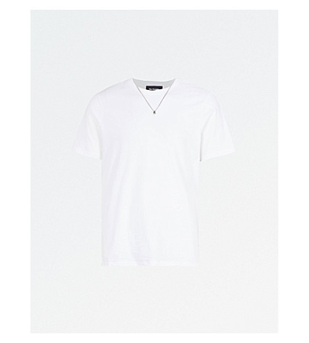 THE KOOPLES Necklace embellished cotton T-shirt (Whi01
