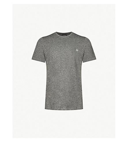 THE KOOPLES Zipped-pocket cotton-blend T-shirt (Gry23