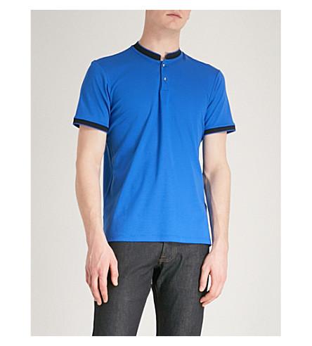 THE KOOPLES Officer collar piqué polo shirt (Blu29