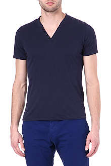 THE KOOPLES SPORT V-neck Henley t-shirt