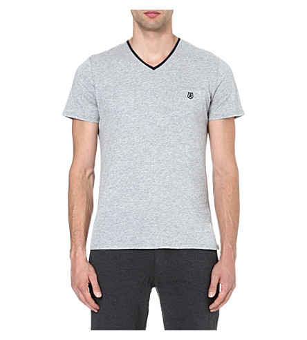THE KOOPLES SPORT Embroidered-pocket t-shirt (Grey+melange
