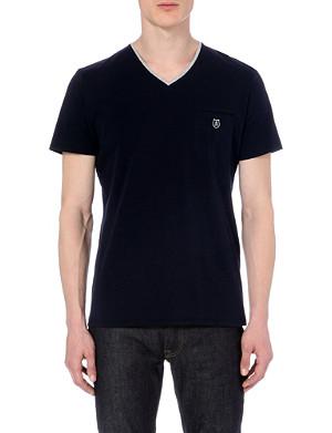 THE KOOPLES SPORT Contrast v-neck t-shirt