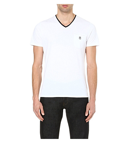 THE KOOPLES Embroidered-pocket t-shirt (White