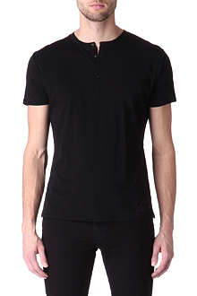THE KOOPLES Semi-sheer cotton t-shirt