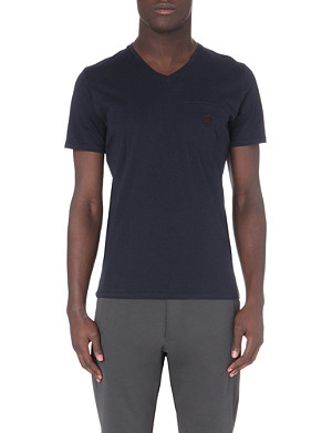 THE KOOPLES SPORT Skull embroidered cotton t-shirt