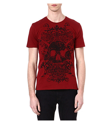 THE KOOPLES Vikings skullhead t-shirt (Red