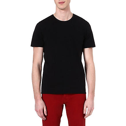 THE KOOPLES Leather neckline t-shirt (Black/black